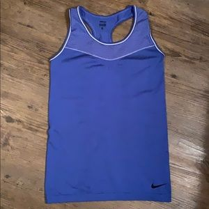 Nike Pro dri fit cobalt blue workout tank